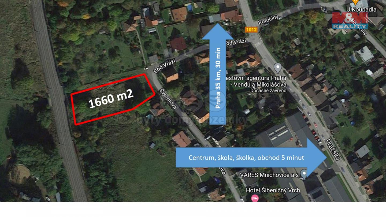 Prodej pozemku k bydlení, 1660 m², Mnichovice