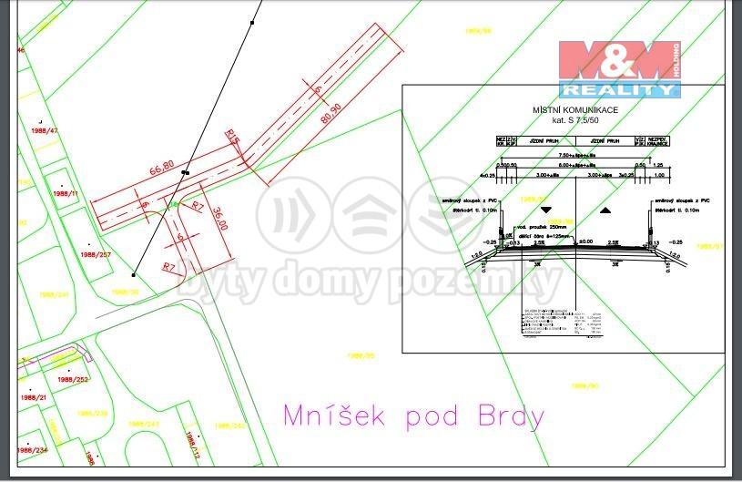 Prodej, provozní plocha, 7450 m², Mníšek pod Brdy