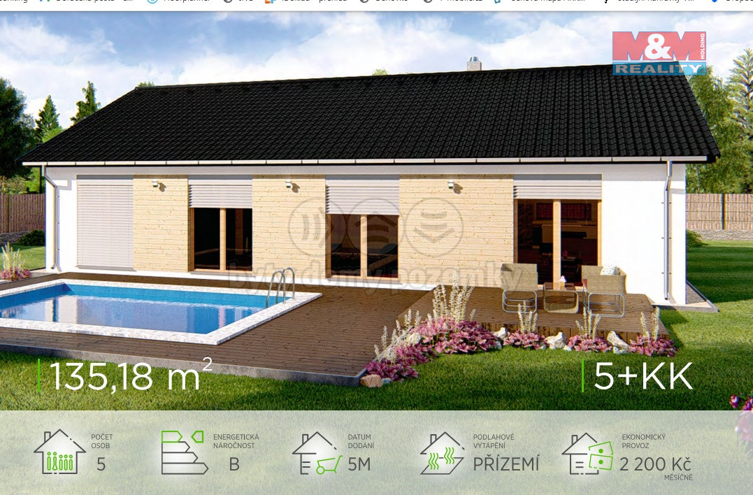 Prodej, rodinný dům 135 m2, Praha 10, ul. Euklidova