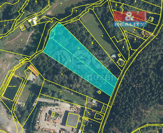 Prodej lesa, 9722 m², Loužnice