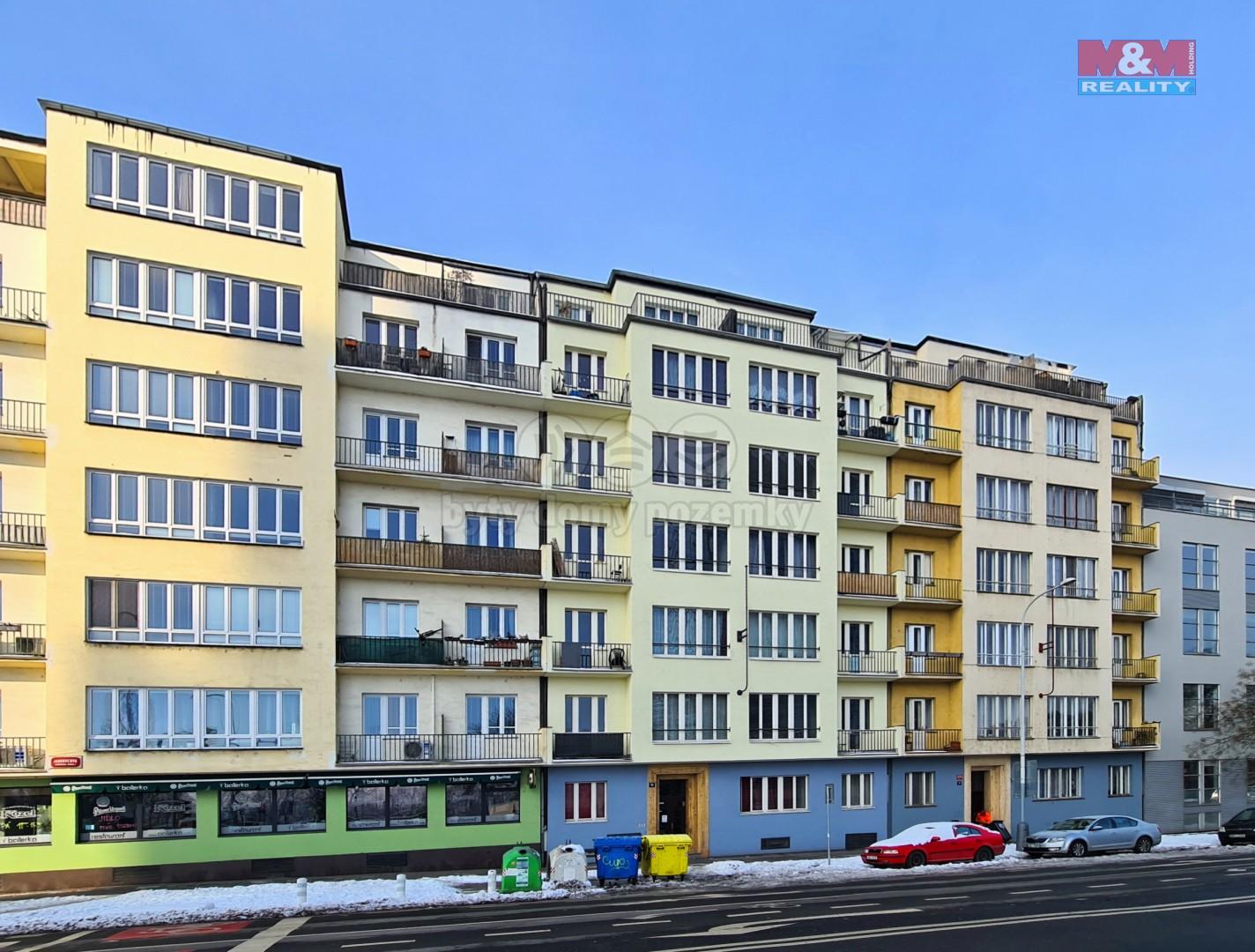 Pronájem bytu 2+kk, 52 m2, Praha 7, ul. Jankovcova