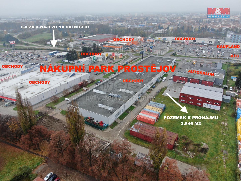 Pronájem provozní plochy, 3546 m2, Prostějov