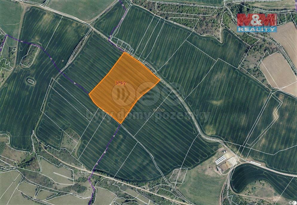 Prodej pole, 48093 m², Obrnice