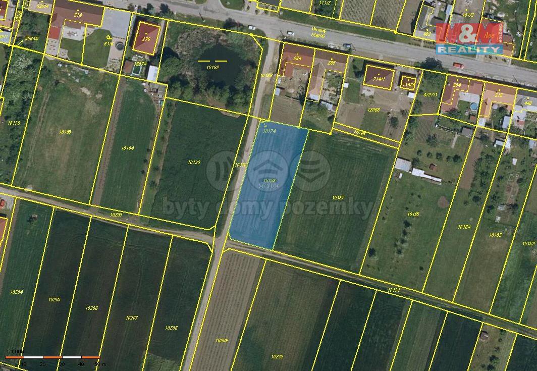 Prodej pozemku, 1660 m², Hrabětice