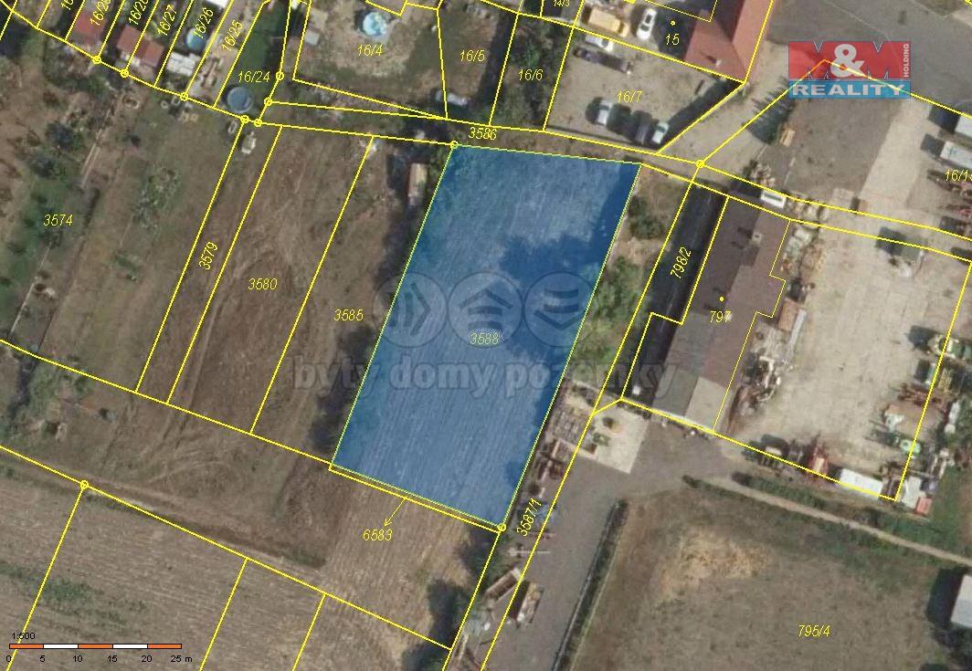 Prodej pozemku k bydlení, 1404 m², Šanov