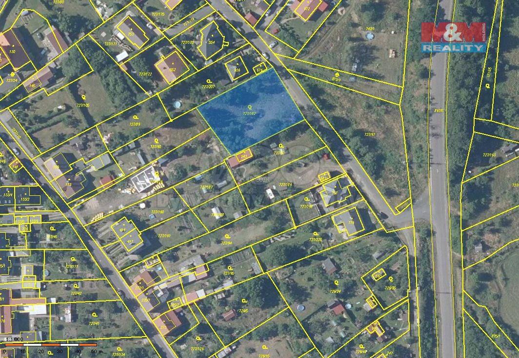 Prodej pozemku k bydlení, 1497 m², Vysoká Pec, ul. Pod Věží