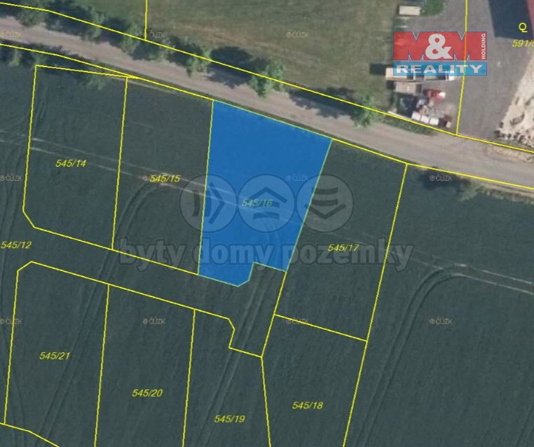Prodej pozemku k bydlení, 933 m², Horní Slivno
