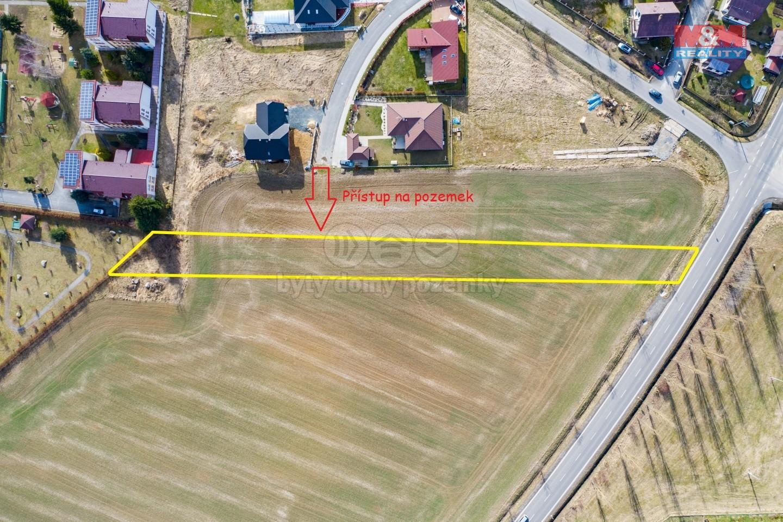 pozemek - přístup.jpg (Prodej pozemku k bydlení, 2202 m², Rožmitál pod Třemšínem), foto 1/11
