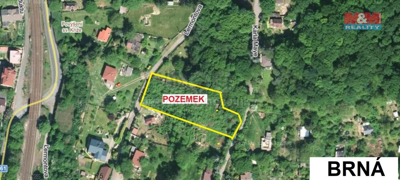 Prodej zahrady, 1698 m², Ústí nad Labem