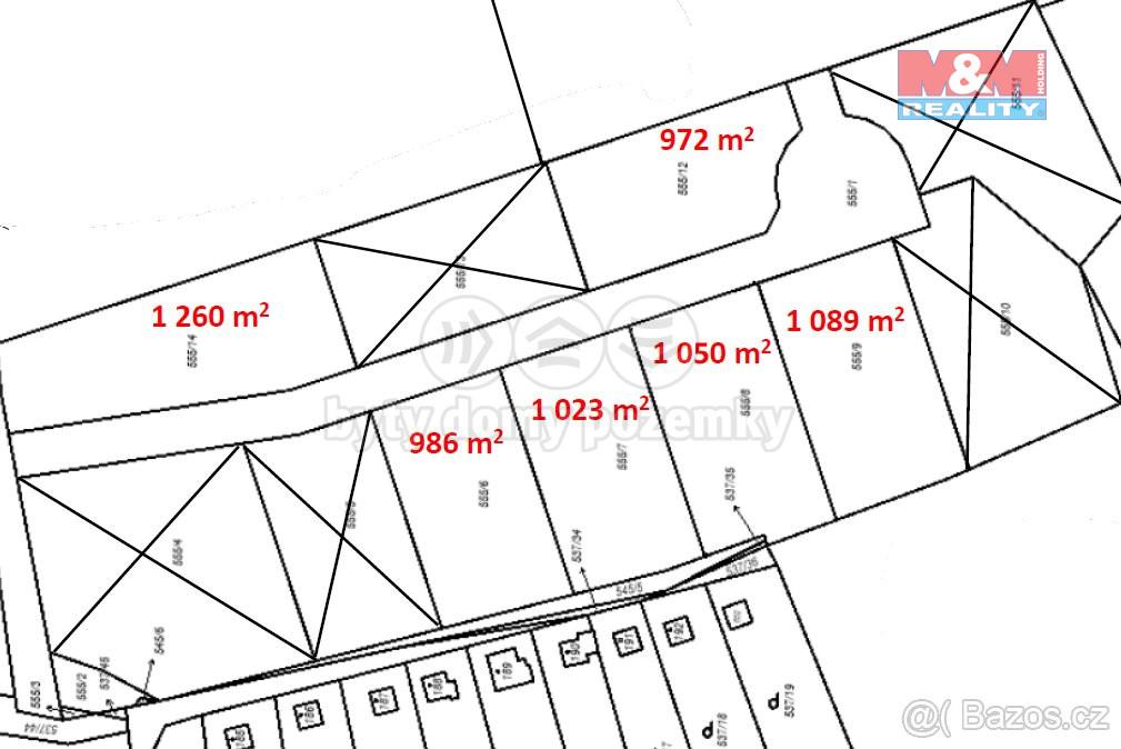 Prodej pozemku 1.089 m2, Charvatce