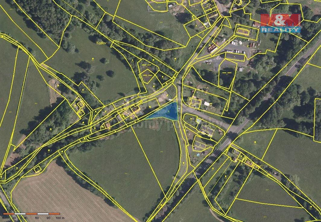Prodej pozemku, 980 m², Bochov - Kozlov