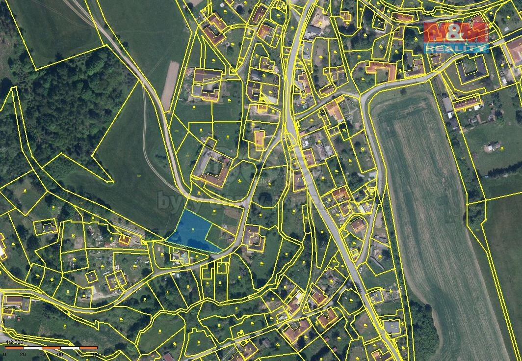 Prodej pozemku k bydlení, 1438 m², Skřípov