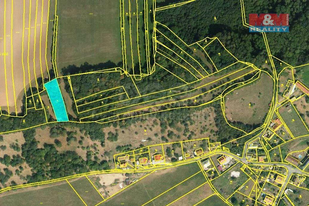 Prodej zahrady, 1191 m², Choryně