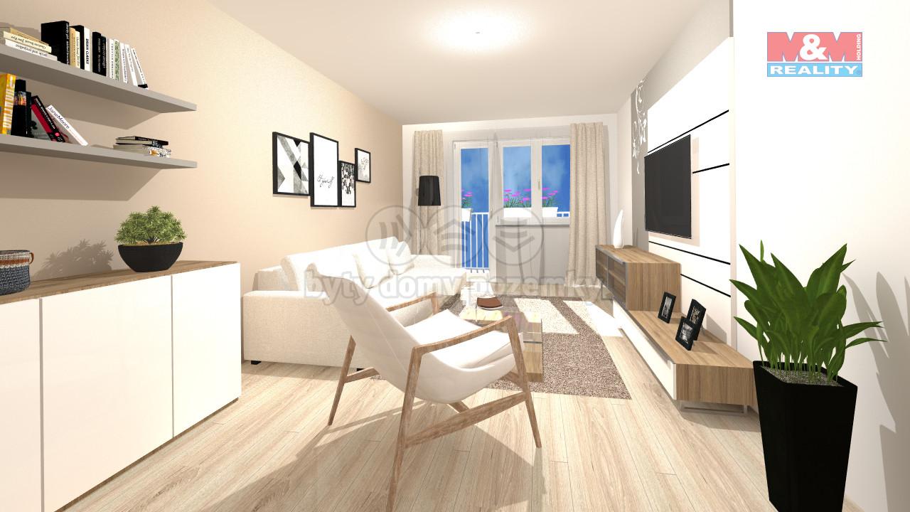 Vizualizace-obývací pokoj