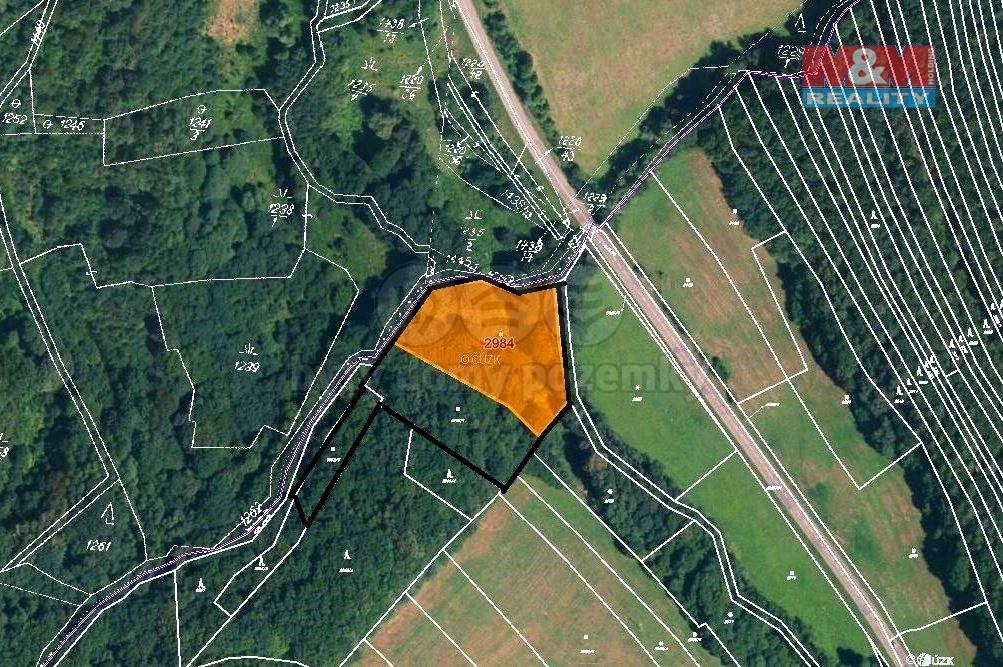 Prodej louky, 8550 m², Hřivínův Újezd