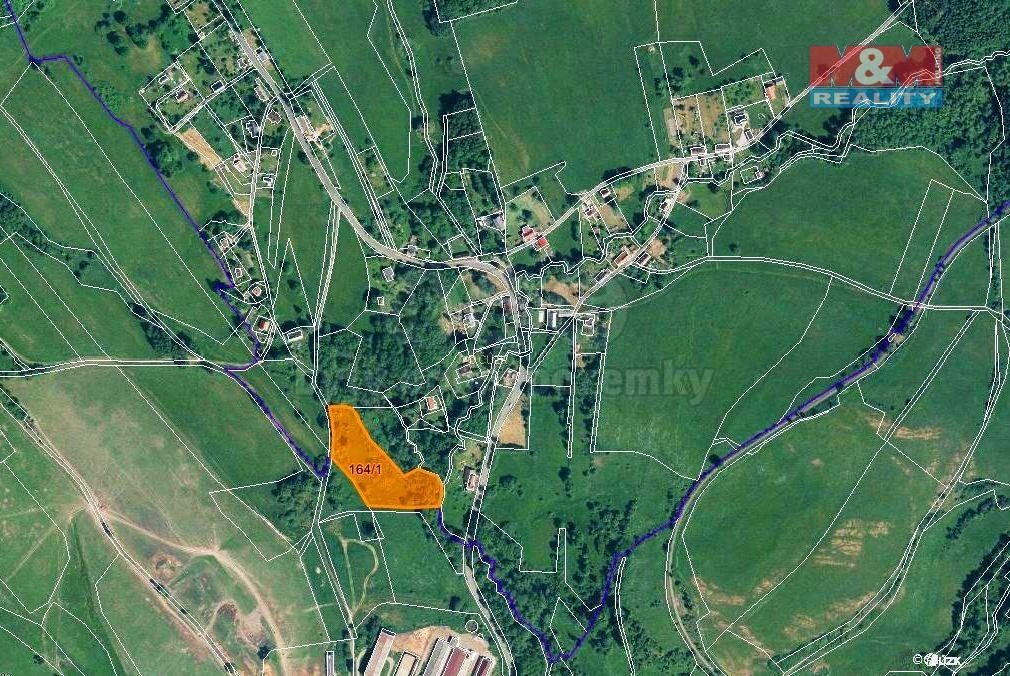 Prodej louky, 9345 m², Volfartice