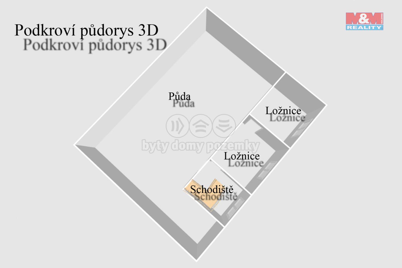 Podkroví s ložnicemi 3D