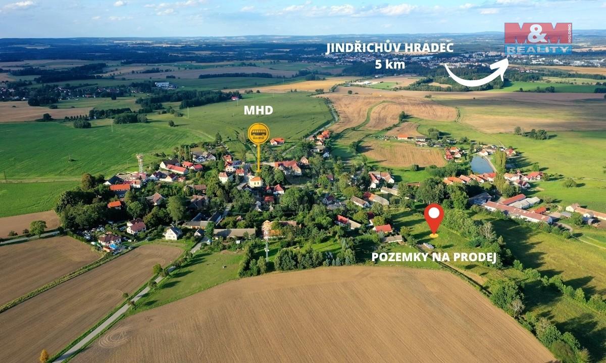 Prodej pozemku k bydlení, 1240 m², Jindřichův Hradec