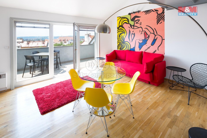 Pronájem bytu 3+kk, 78 m², Praha, ul. Francouzská