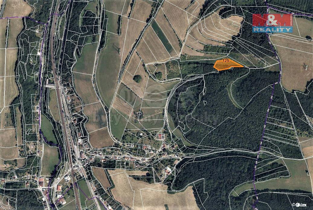 Prodej louky, 3399 m², Rozhraní