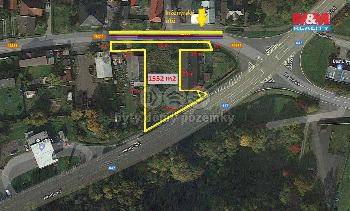 Prodej pozemku k bydlení, 1552 m², Fulnek