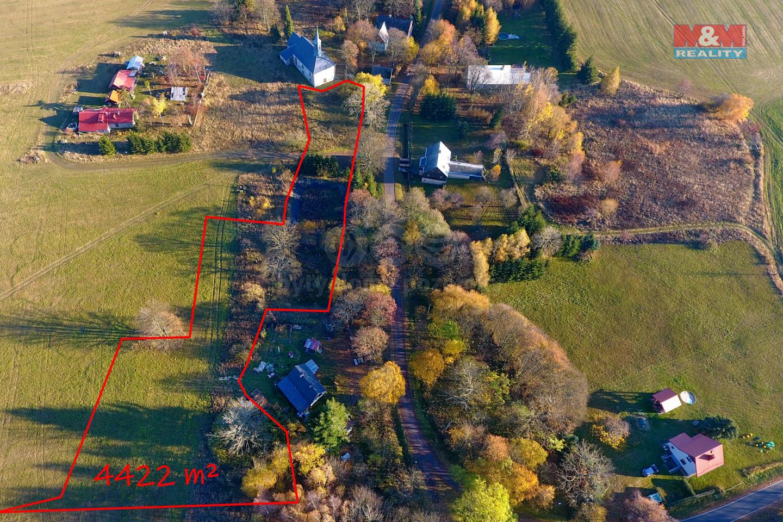 Prodej pozemku k bydlení, 4422 m², Výsluní - Volyně