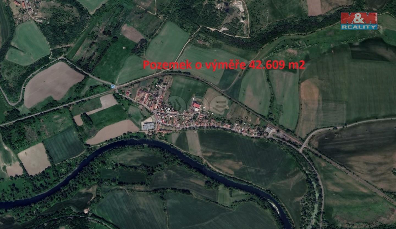 Prodej, pole, 42609 m2, Tvršice