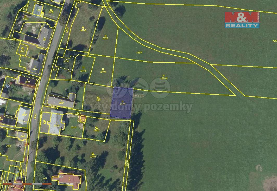 Prodej pozemku, 615 m², Moravský Beroun