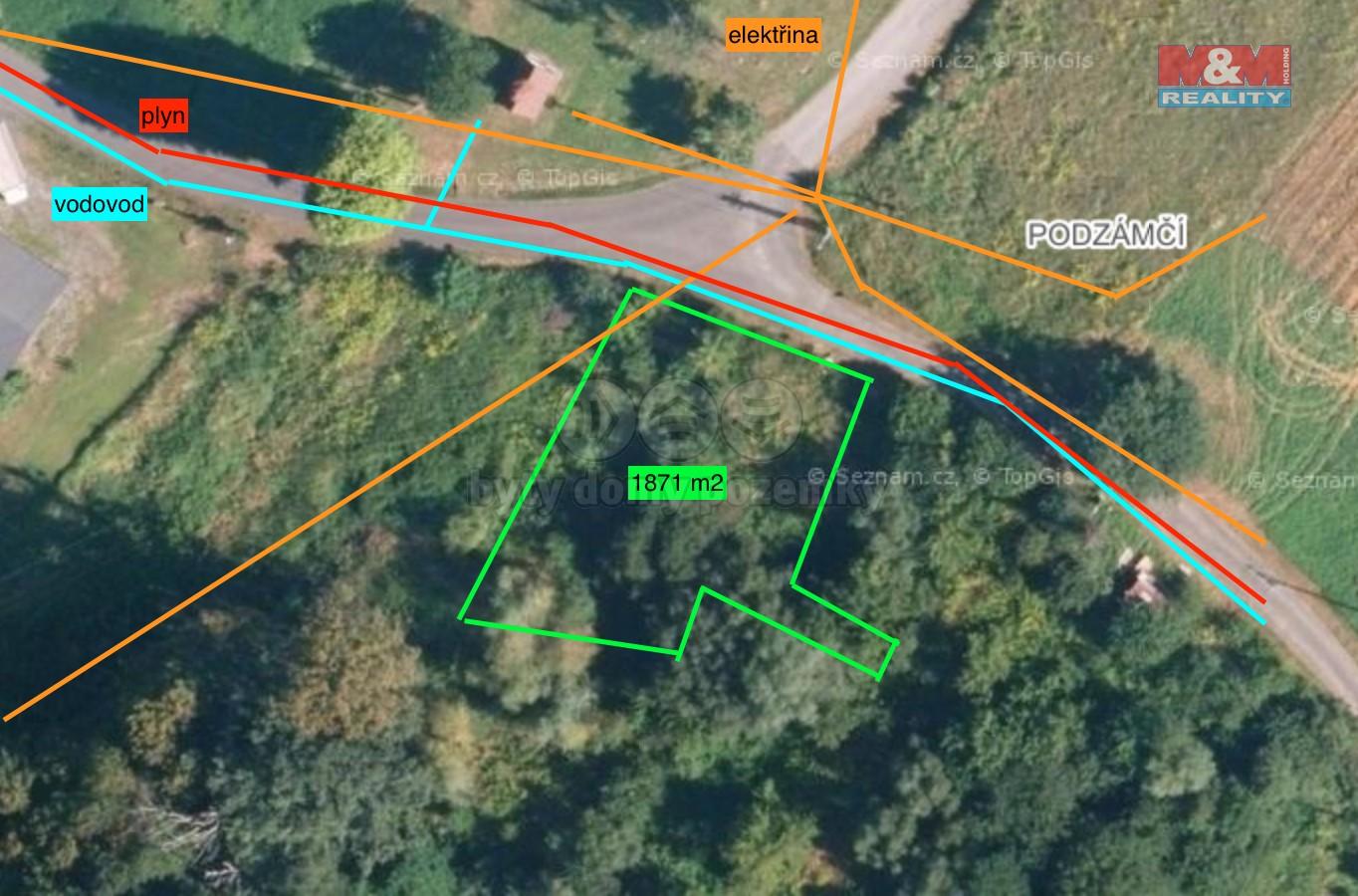 Prodej pozemku k bydlení, 1871 m², Ostrava, ul. Nad Lučinou