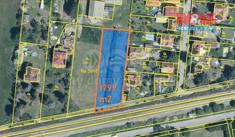 Prodej pozemku k bydlení, 1799 m², Všenory, ul. Na Benátkách
