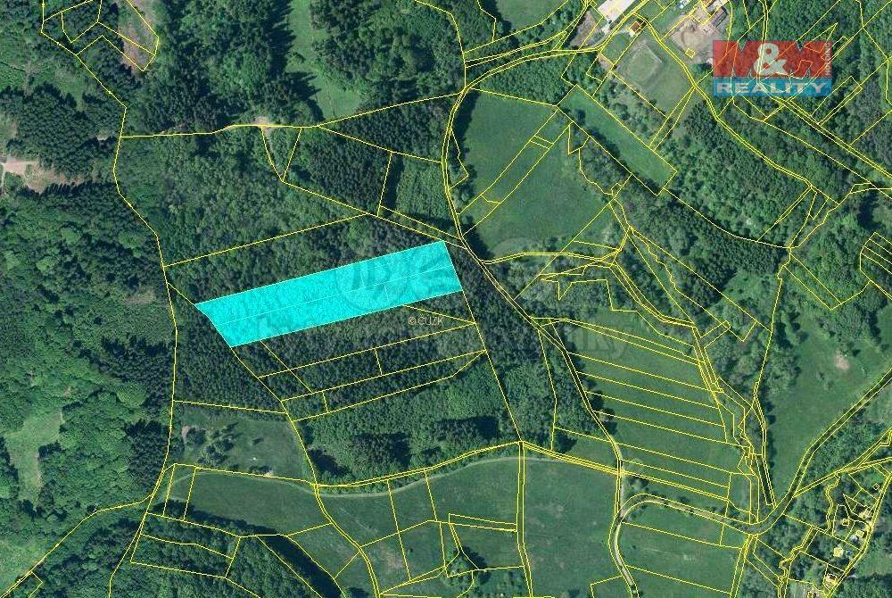 Prodej lesa, 17851 m², Třebušín