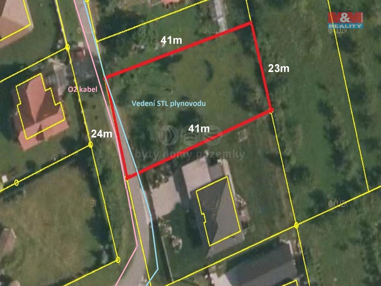 Prodej zahrady, 900 m², Kopřivnice - Lubina