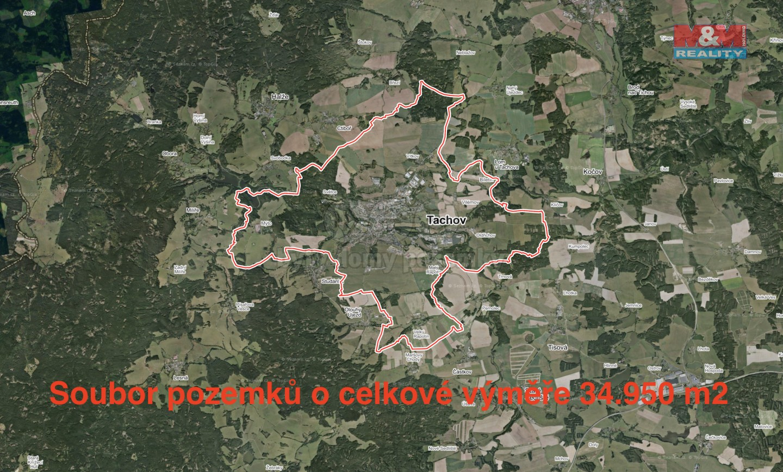 Prodej, louka, 34950 m2, Tachov