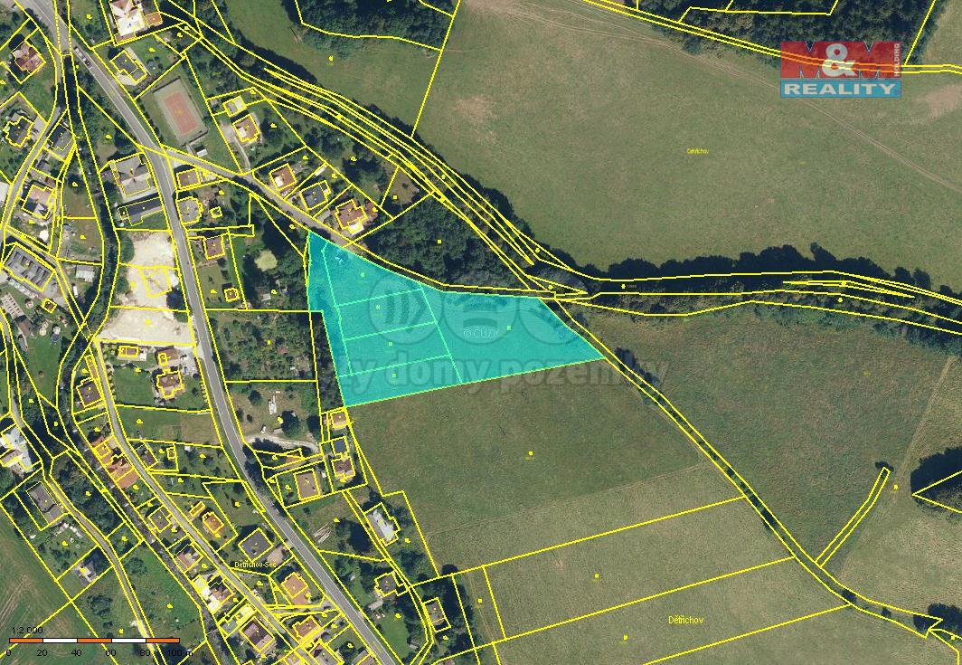 Prodej pozemku k bydlení, 8940 m², Jeseník - Dětřichov