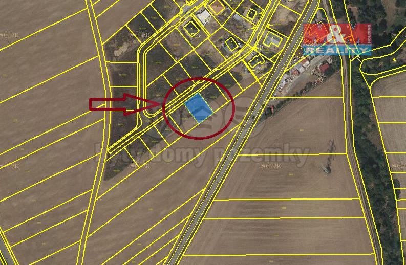Pronájem, pozemek k bydlení, 504m2, Medlovice, Vyškov