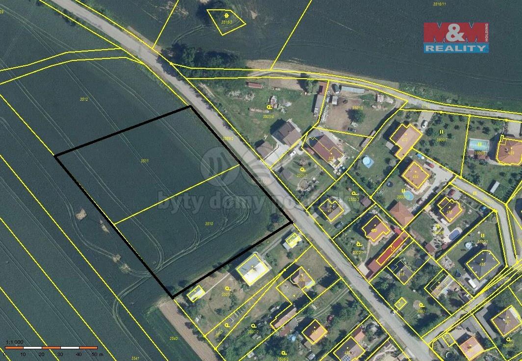 Prodej pozemku k bydlení, 6644 m², Týnec nad Sázavou