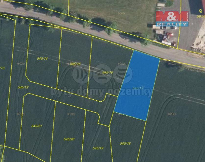Prodej pozemku k bydlení, 907 m², Horní Slivno