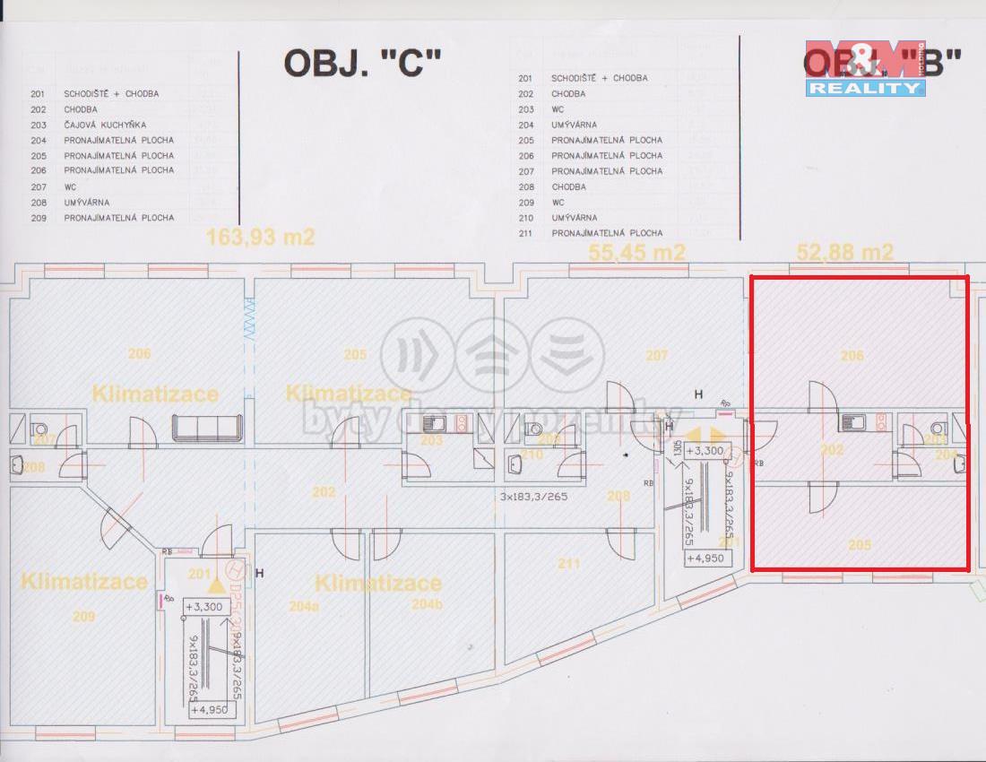 Pronájem kancelářského prostoru, 52 m², Beroun, ul. Plzeňská