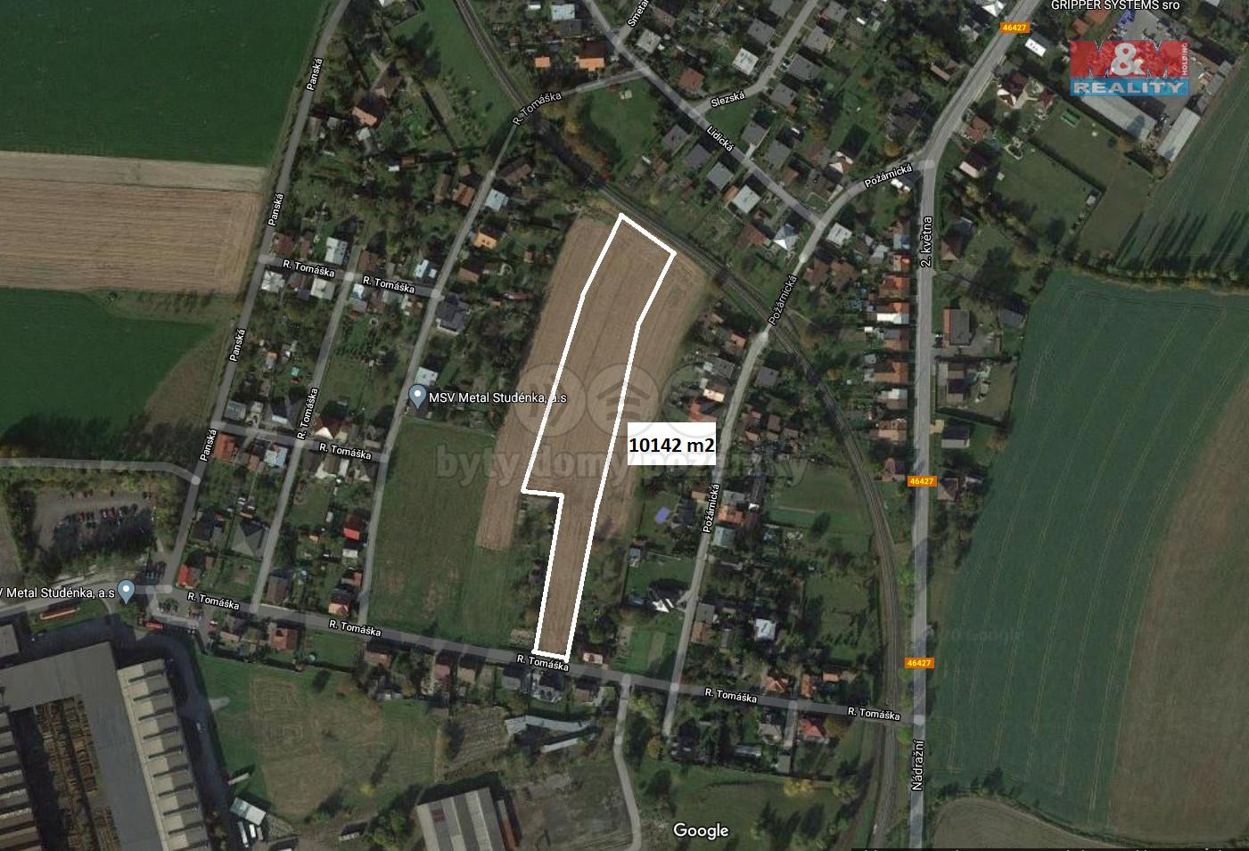 Prodej pozemku k bydlení, 10142 m², Studénka, ul. R. Tomáška