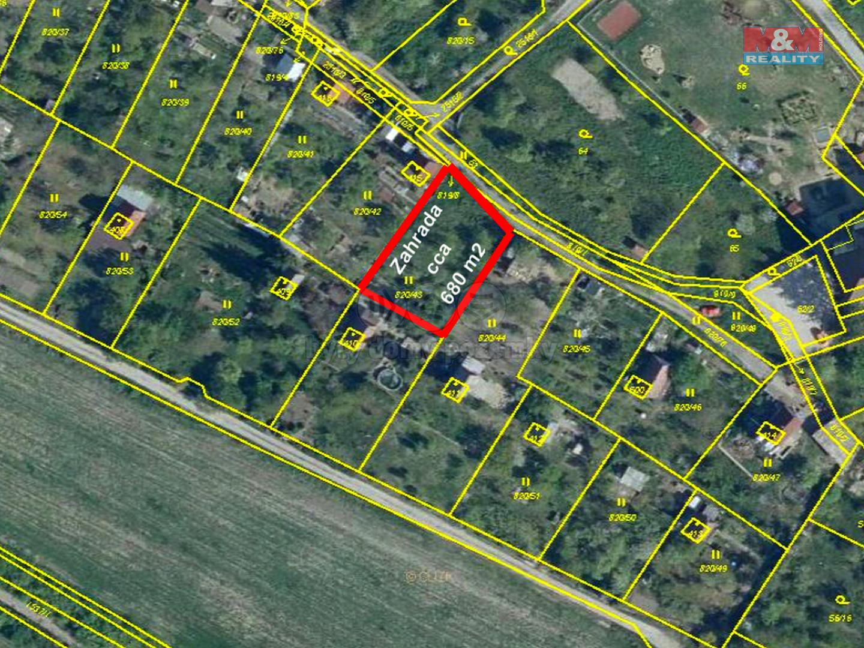 Prodej zahrady, 670 m², Žitenice, ul. Školní