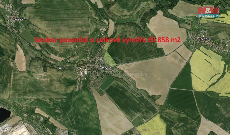 Prodej, pole, 69858 m2, Radouň u Štětí