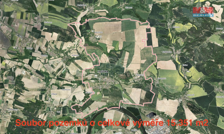 Prodej, pozemek, 15351 m2, Hošťka