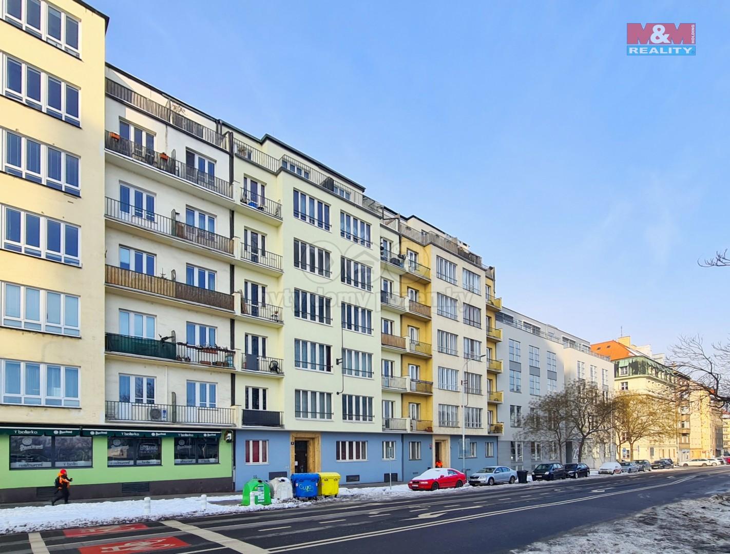 Pronájem bytu 2+kk, 42 m2, Praha 7, ul. Jankovcova