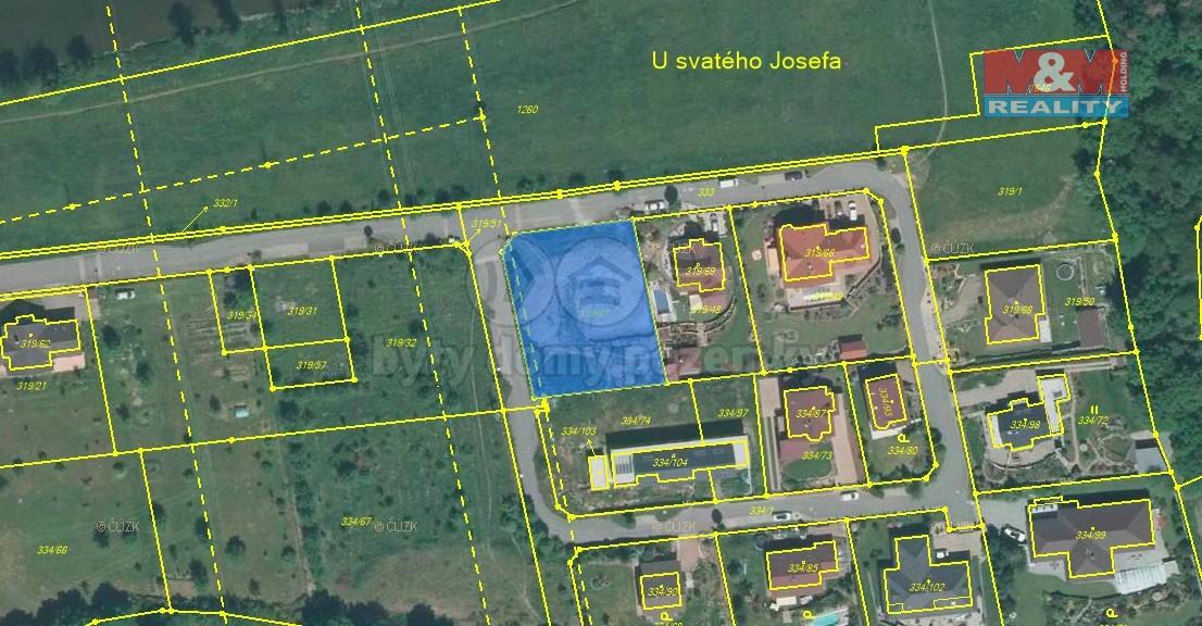Prodej pozemku k bydlení, 1315 m², Plzeň, ul. U Lesa