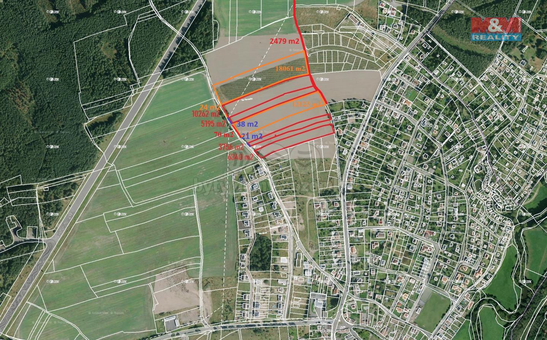 Prodej pozemku k bydlení, 58369 m², Plzeň
