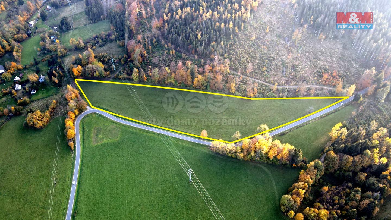 Prodej louky, 25814 m², Zlaté Hory
