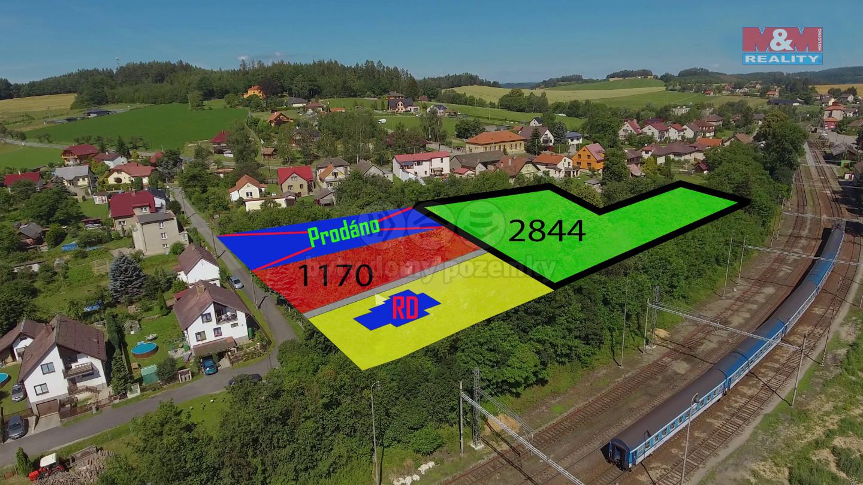 Prodej, pozemek k bydlení, 2844 m², Heřmaničky