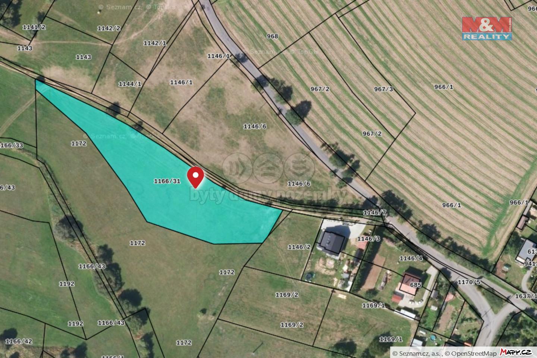 Prodej pozemku k bydlení, 5527 m², Kasejovice