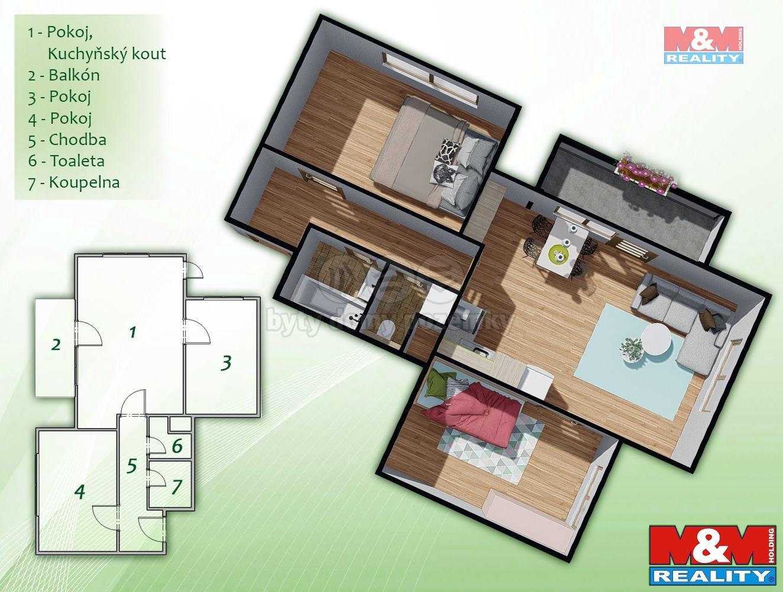 Prodej bytu 3+kk, 68 m², Brno, ul. Přírodní