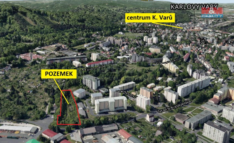 Prodej pozemku, 4294 m², Karlovy Vary, ul. Stará Kysibelská